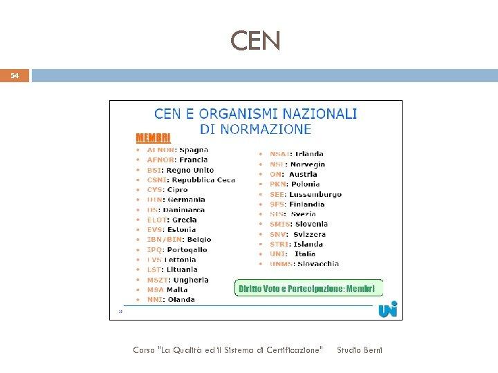 CEN 54 Corso