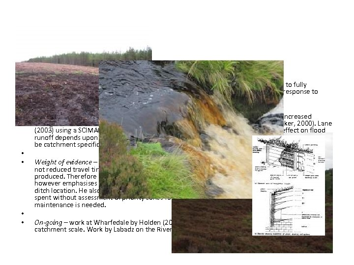 • • • DRAINAGE DITCH (GRIP) BLOCKING Process impact - There is still