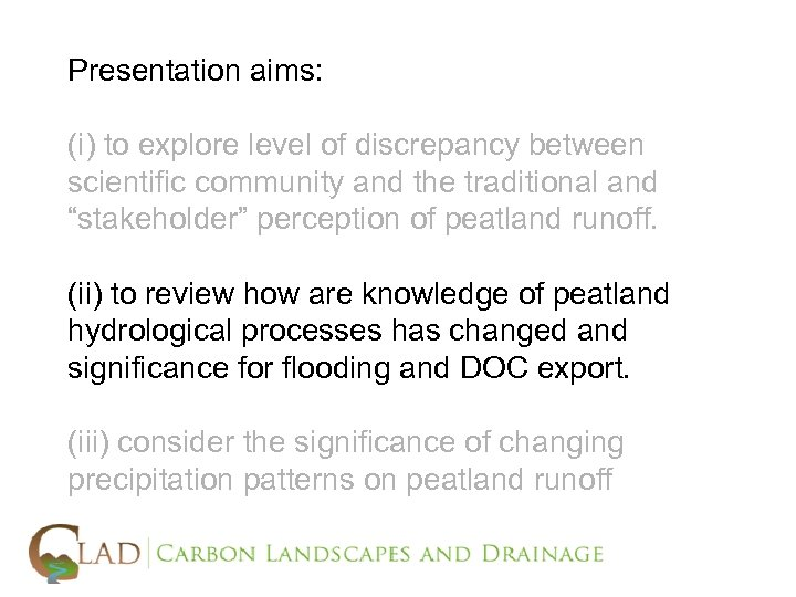 Presentation aims: (i) to explore level of discrepancy between scientific community and the traditional