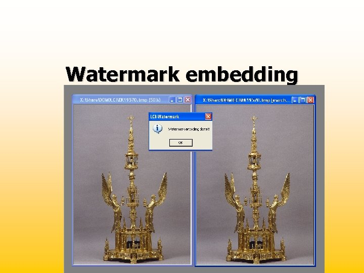Watermark embedding