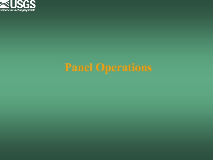 Panel Operations
