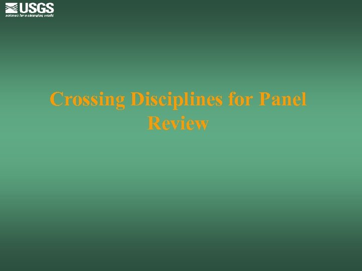Crossing Disciplines for Panel Review