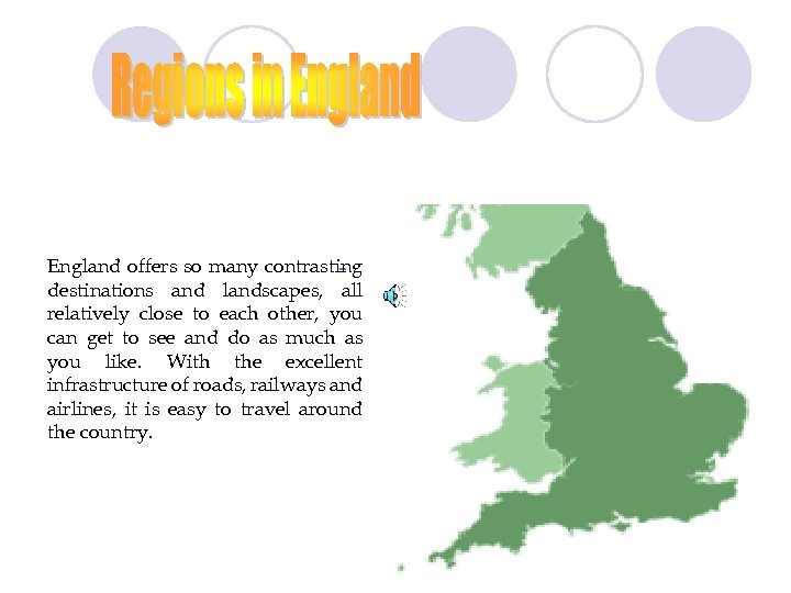England offers so many contrasting destinations and landscapes, all relatively close to each