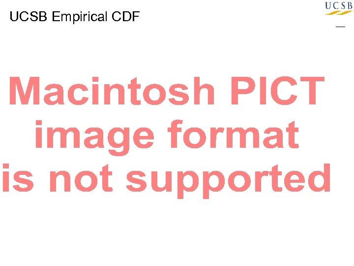 UCSB Empirical CDF