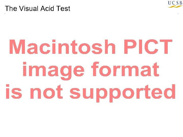 The Visual Acid Test