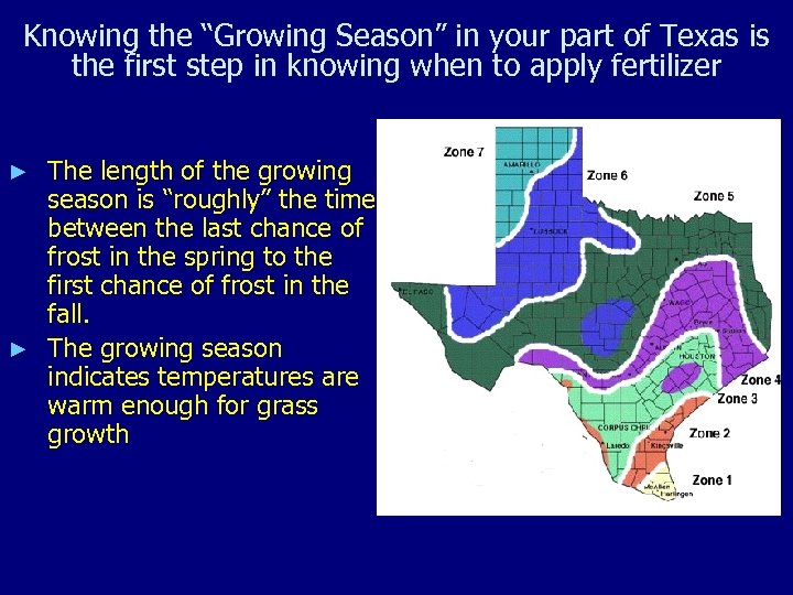 """Knowing the """"Growing Season"""" in your part of Texas is the first step in"""