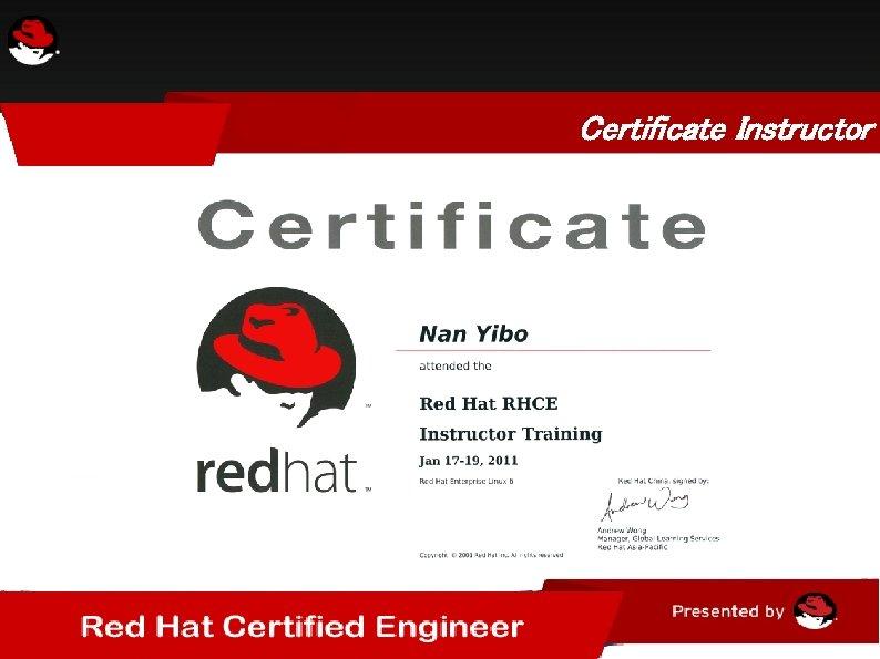 Certificate Instructor