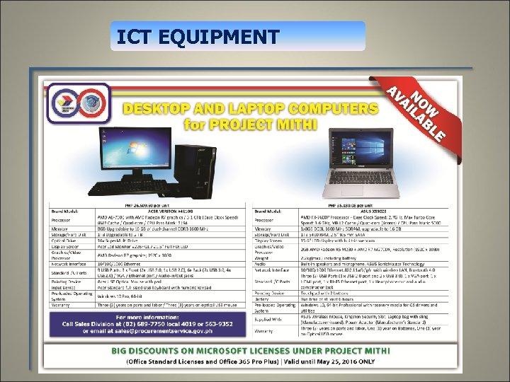 ICT EQUIPMENT