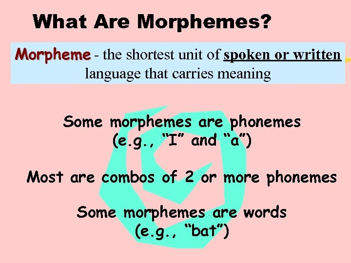 What Are Morphemes? Morpheme - the shortest unit of spoken or written language that