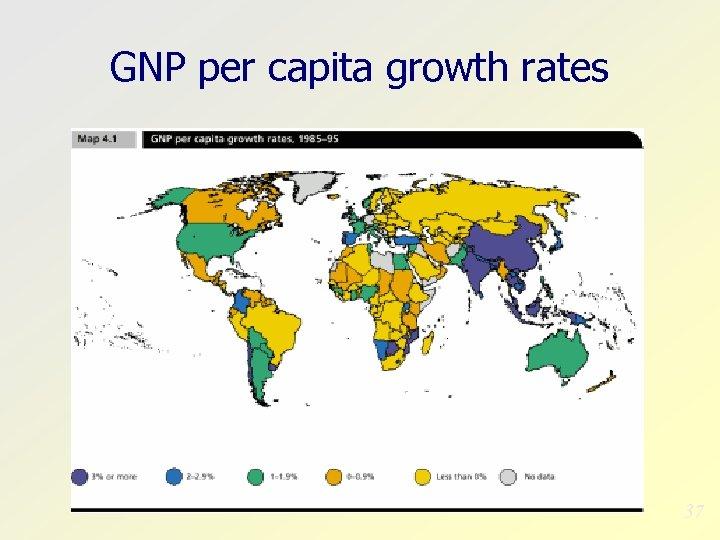 GNP per capita growth rates 37