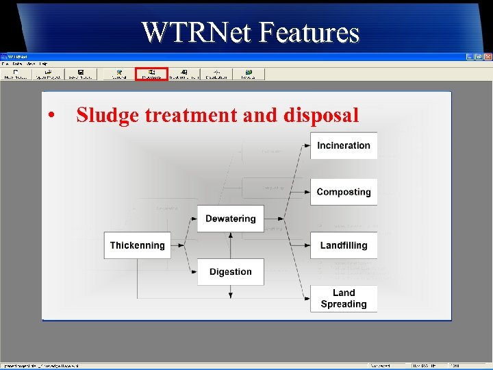 WTRNet Features • Sludge treatment and disposal
