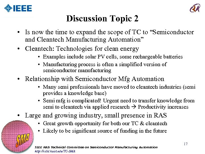 Discussion Topic 2 • Is now the time to expand the scope of TC