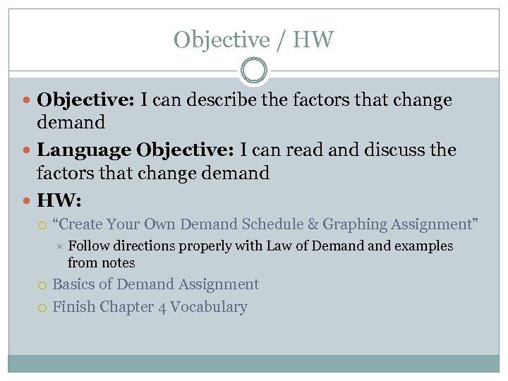 factors that change demand