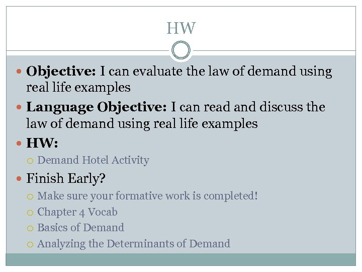 law of demand example