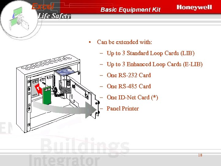 Excel Life Safety Basic Equipment Kit • Can be extended with: – Up to