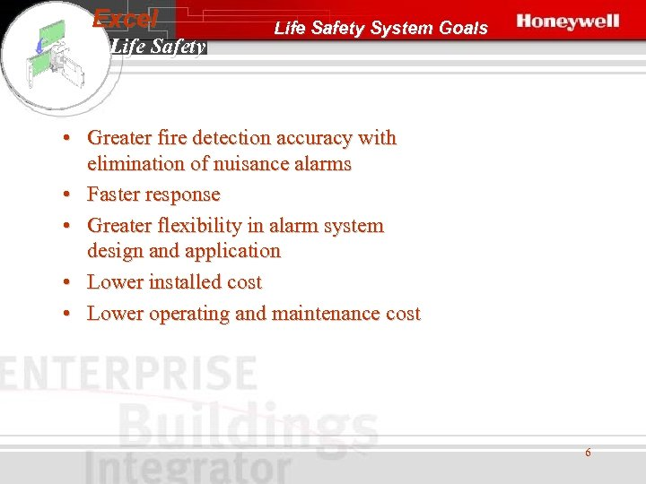 Excel Life Safety System Goals • Greater fire detection accuracy with elimination of nuisance