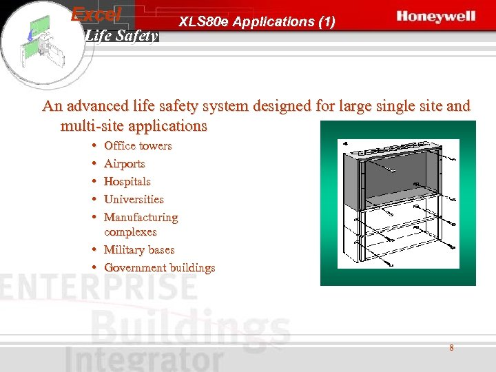 Excel Life Safety XLS 80 e Applications (1) An advanced life safety system designed