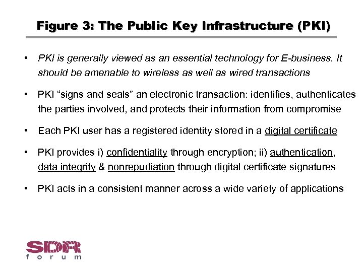 Figure 3: The Public Key Infrastructure (PKI) • PKI is generally viewed as an