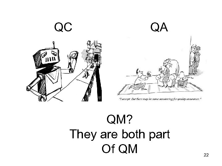 QC QA QM? They are both part Of QM 22