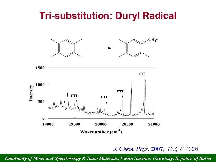 Tri-substitution: Duryl Radical 6 b J. Chem. Phys. 2007, 126, 214308. Laboratory of Molecular
