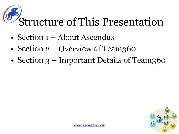 Structure of This Presentation • Section 1 – About Ascendus • Section 2 –