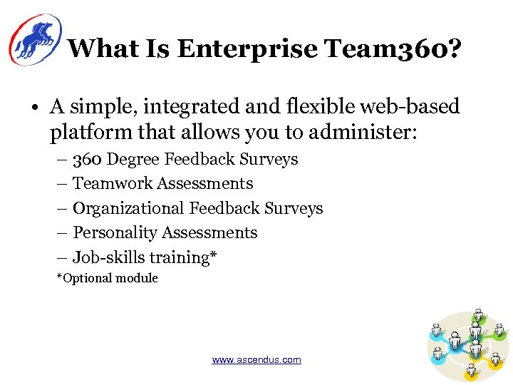 What Is Enterprise Team 360? • A simple, integrated and flexible web-based platform that