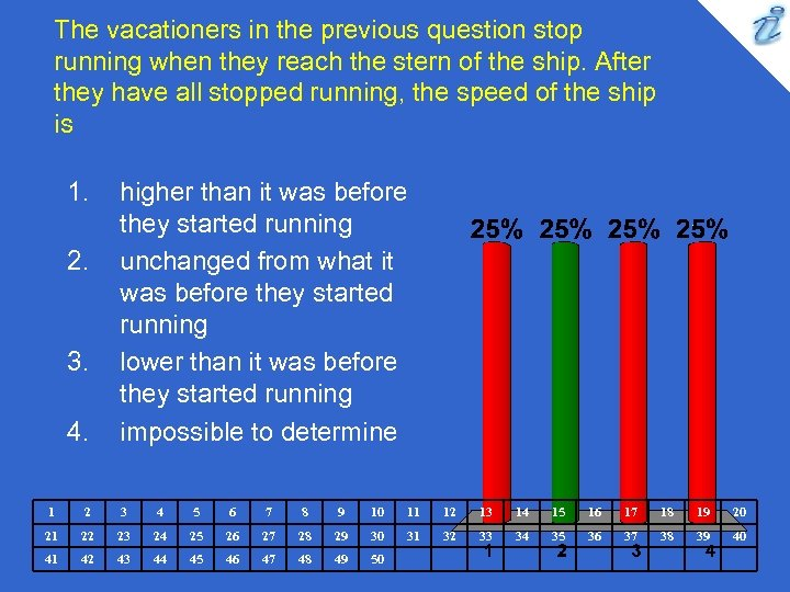 The vacationers in the previous question stop running when they reach the stern of