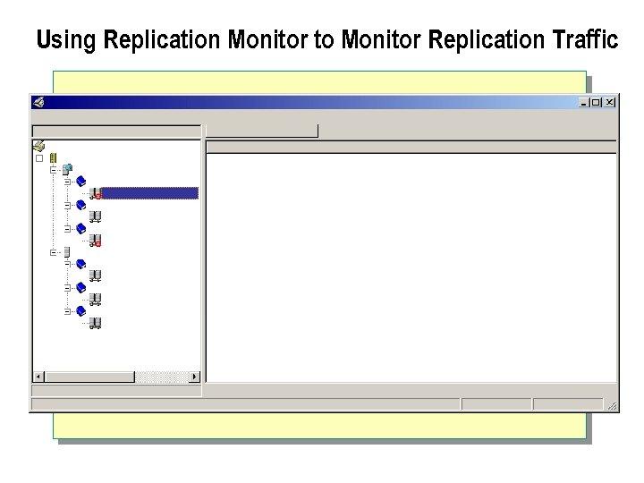 Using Replication Monitor to Monitor Replication Traffic