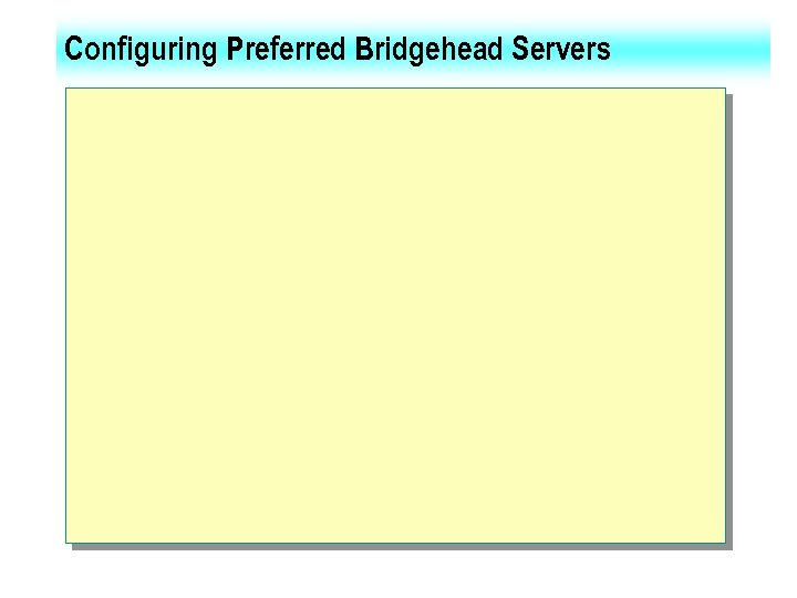 Configuring Preferred Bridgehead Servers
