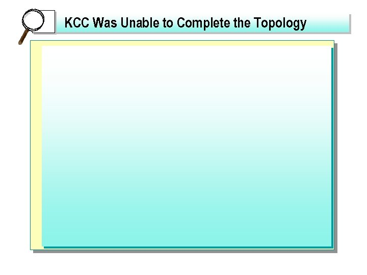 KCC Was Unable to Complete the Topology