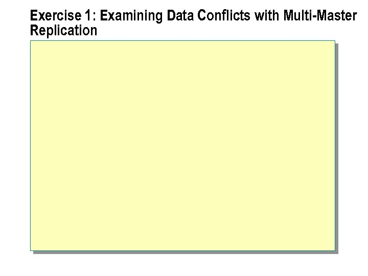 Exercise 1: Examining Data Conflicts with Multi-Master Replication