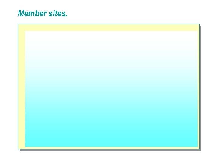 Member sites.