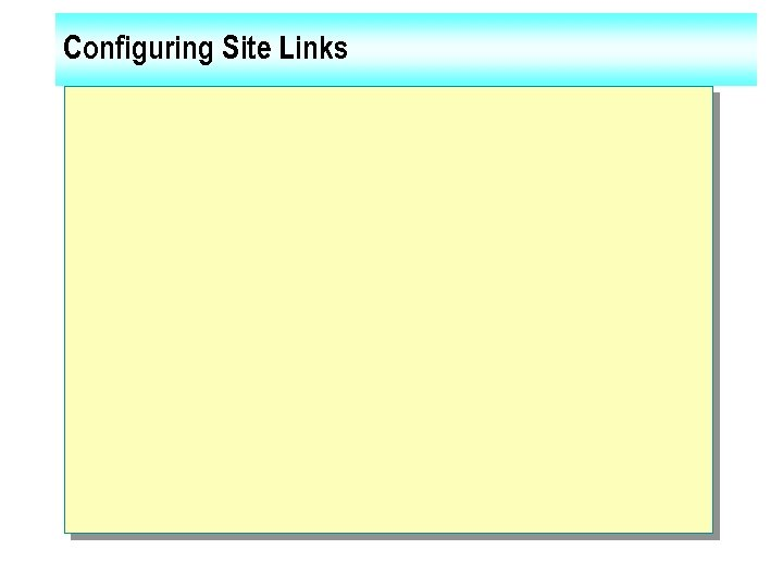 Configuring Site Links