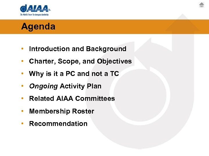 Agenda • Introduction and Background • Charter, Scope, and Objectives • Why is it
