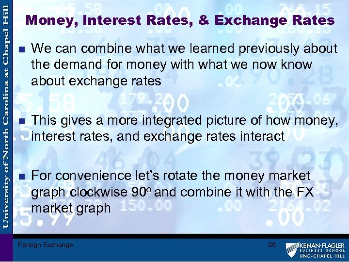 Money, Interest Rates, & Exchange Rates n We can combine what we learned previously