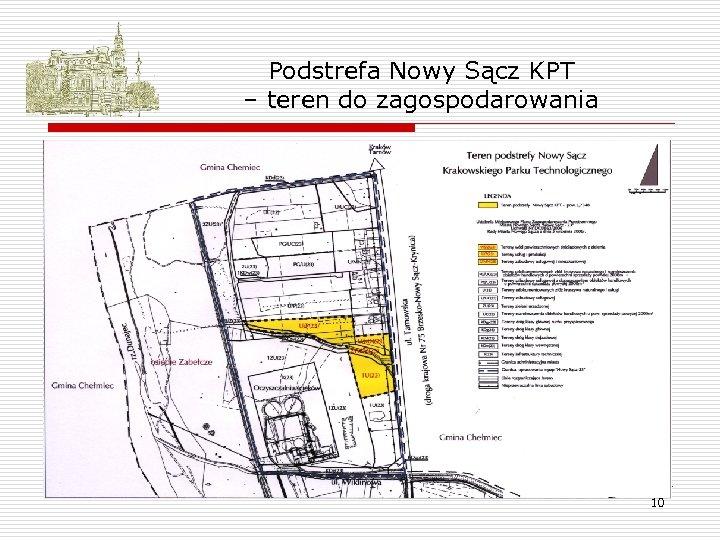 Podstrefa Nowy Sącz KPT – teren do zagospodarowania 10