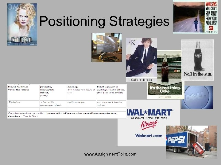 Positioning Strategies www. Assignment. Point. com