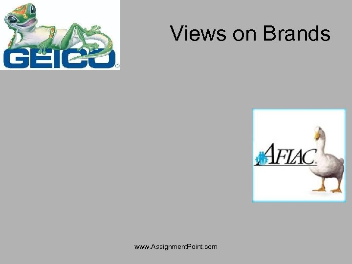 Views on Brands www. Assignment. Point. com