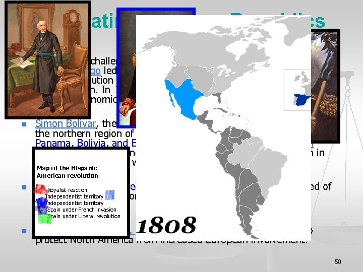 XII. Latin American Republics (Pages 326 -327) n n Spain faced challenges within its