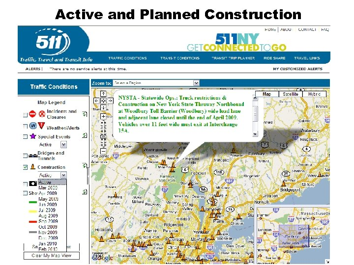 Active and Planned Construction Insert Construction Image