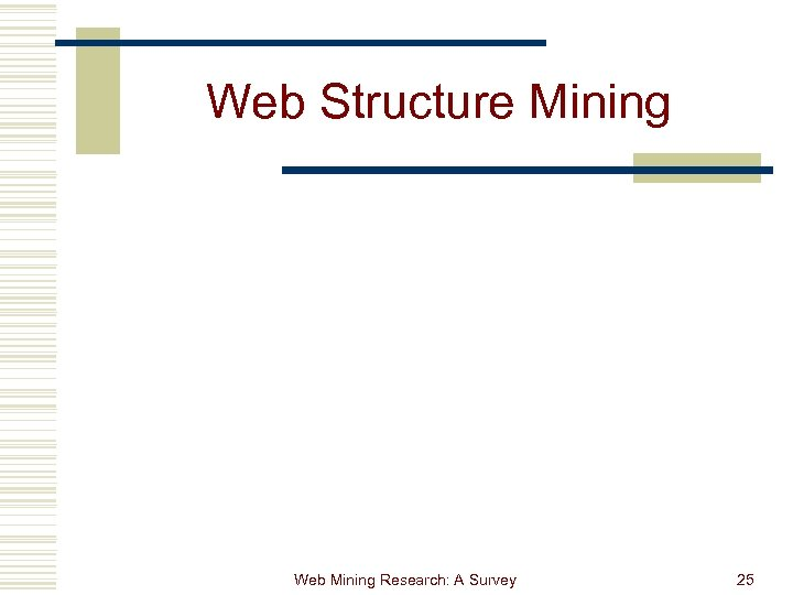 Web Structure Mining Web Mining Research: A Survey 25