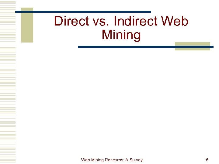 Direct vs. Indirect Web Mining Research: A Survey 6