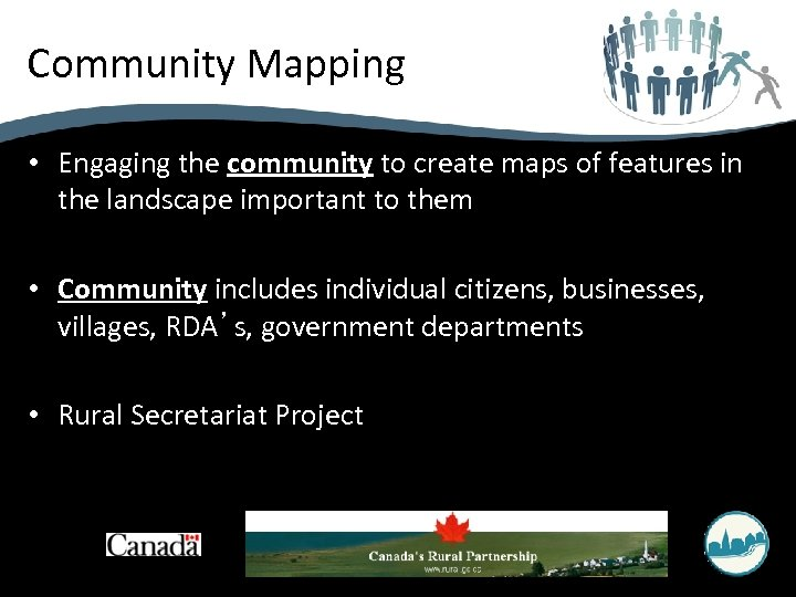 Community Mapping • Engaging the community to create maps of features in the landscape