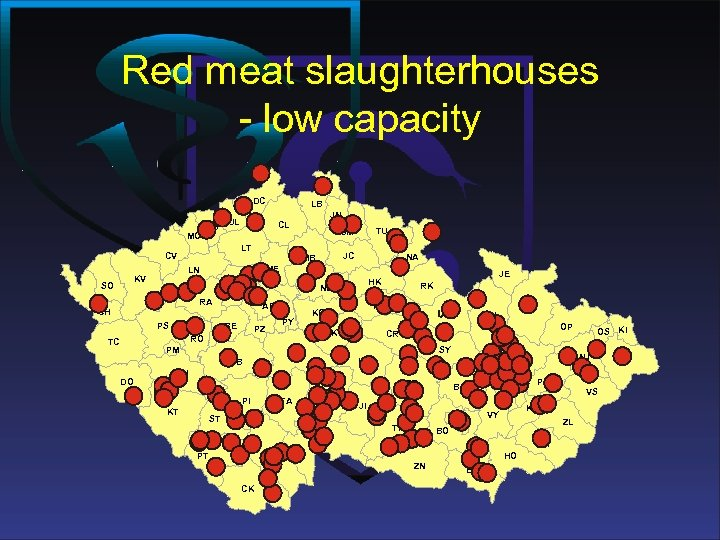 Red meat slaughterhouses - low capacity DC MO TP JN UL CL LN AB