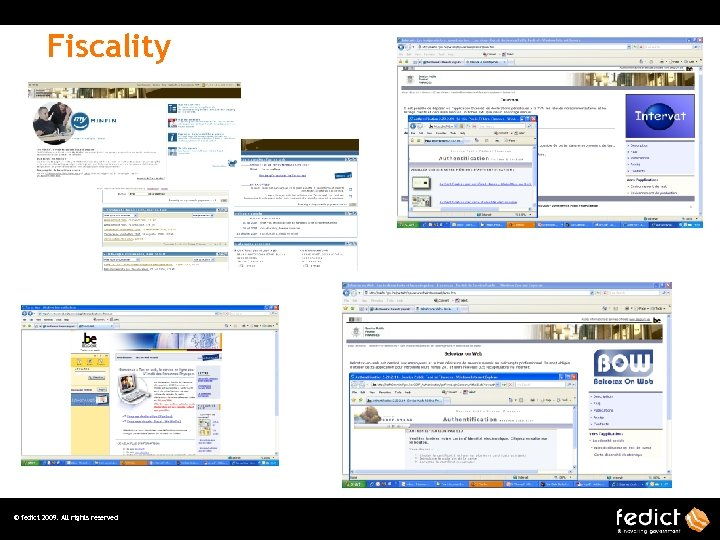 Fiscality © fedict 2009. All rights reserved