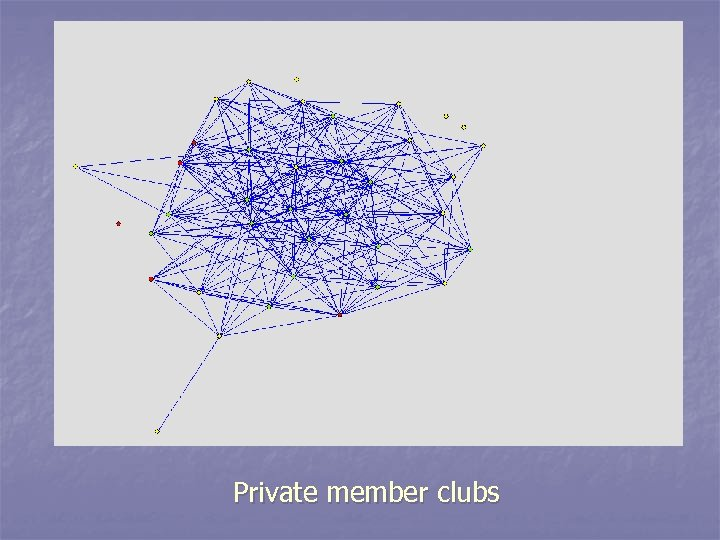 Private member clubs