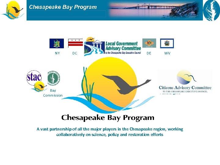 Chesapeake Bay Program NY Bay Commission DC VA MD PA DE WV Federal govt
