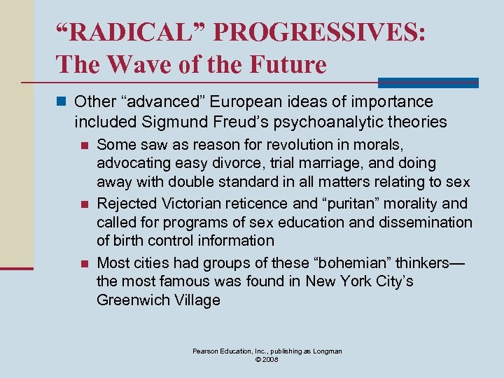 """""""RADICAL"""" PROGRESSIVES: The Wave of the Future n Other """"advanced"""" European ideas of importance"""