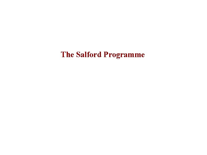 The Salford Programme