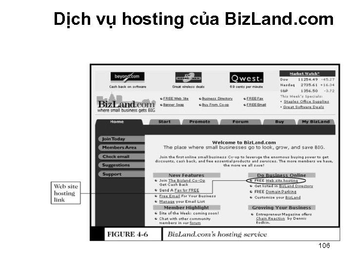 Dịch vụ hosting của Biz. Land. com 106